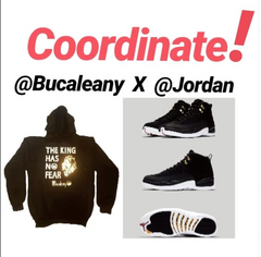 bucaleany The king has no fear hoodie  x Jordans retro 12