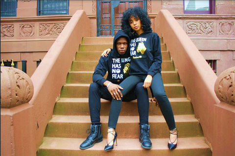 TE KING AND THE QUEEN HAS NO FEAR HOODY
