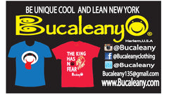 bucalean front business card