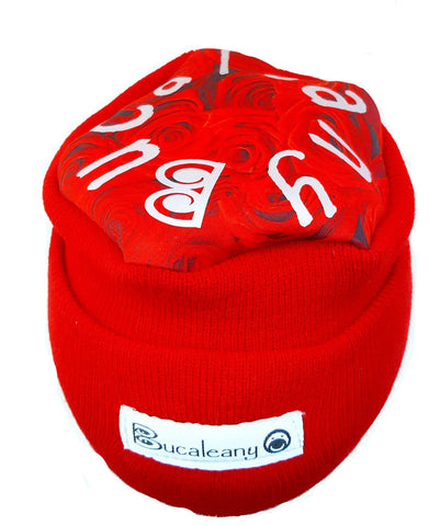 "Bucaleany ""Red Rose Top"" winter hat"
