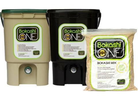 Bokashi Composting Kit - Black or Tan