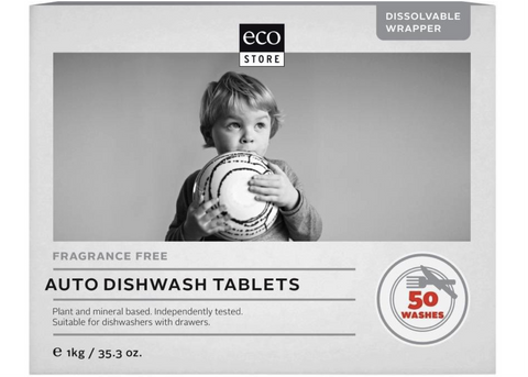 Ecostore - Dishwasher Tablets Fragrance Free 1kg (50 tabs)