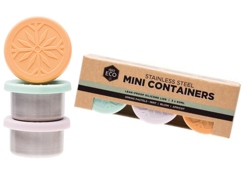 Ever Eco - Mini Containers, 3 x 60ml