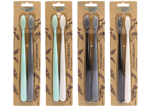 The Natural Family Co - Bio Toothbrush Twin Pack