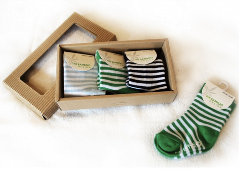The Bamboo Design - Socks Gift Pack, Striped