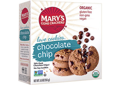 Mary's Gone Crackers - Chocolate Chip Love Cookies, 155g