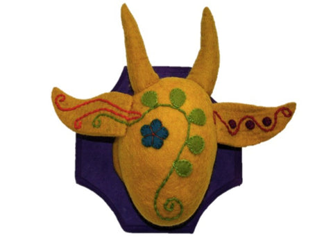 Papoose - Wall Hanging, Embroidered Cow