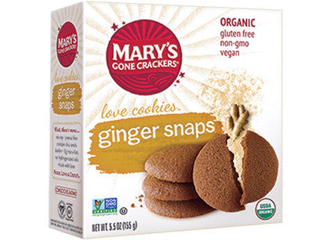 Mary's Gone Crackers - Ginger Snaps Love Cookies, 155g