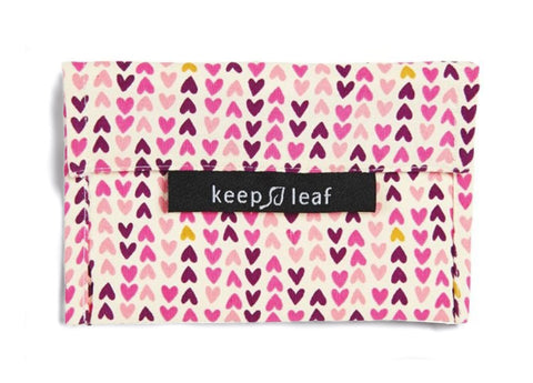 Keep Leaf - Reusable Baggie Small, Hearts