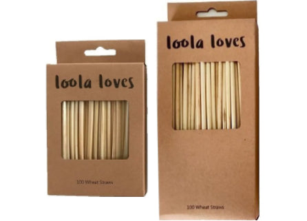 Loola Loves - Wheat Straws, 100pack