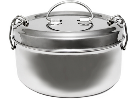 Lunchbox Mania - Round Stainless Steel Lunchbox