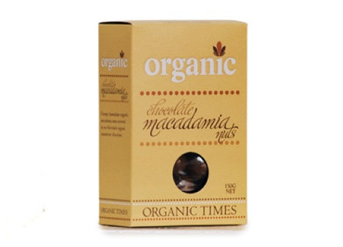 Organic Times - Milk Chocolate Macadamia Nuts 150g