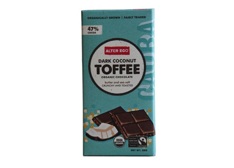 Alter Eco - Coconut Toffee Organic Dark Chocolate 80g