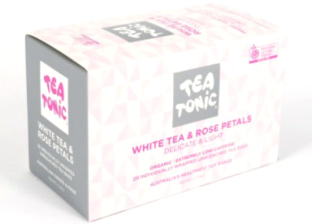 Tea Tonic - White Tea and Rose Petals, 20 Tea bags