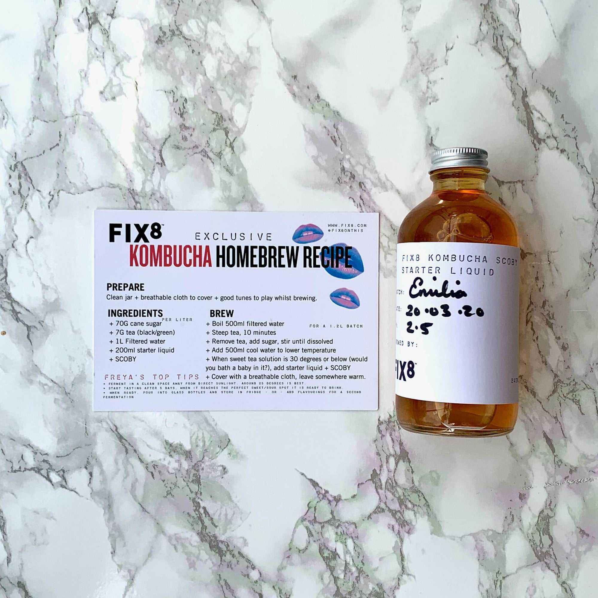 Fix8 Bottle of Starter (240ml) & Recipe Card - Fix8