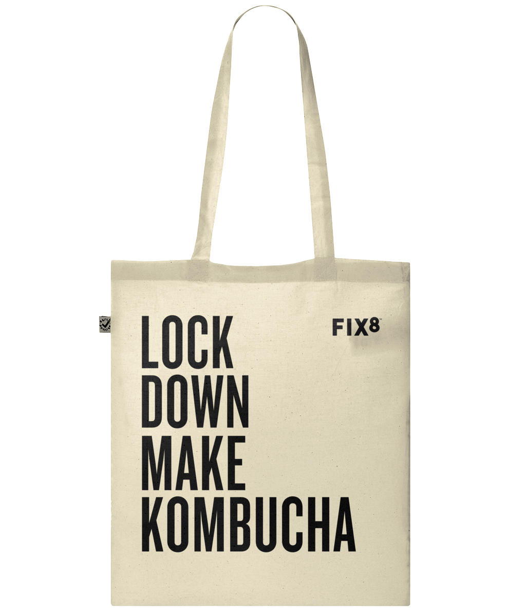 Lock Down Make Kombucha Organic Tote Bag - Fix8