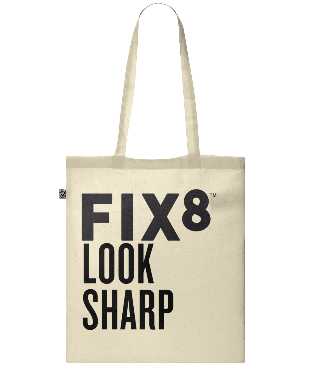 Look Sharp Organic Cotton Tote Bag - Fix8