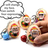 Santa Claus Expression Eggs Keychains (Buy one get one free) - leitemall