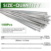 100PCS Multi-Purpose Locking Cable Metal Zip Ties