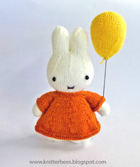 Miffy with Balloon by KnitterBees