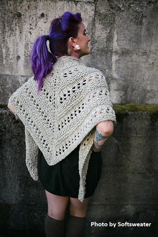 Offhand Lace Shawl by Caitlin ffrench