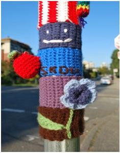KnitKidRevo's yarn bombing project