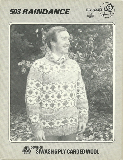 Vintage Bouquet Cowichan Style Sweater Patterns Wet Coast Wools