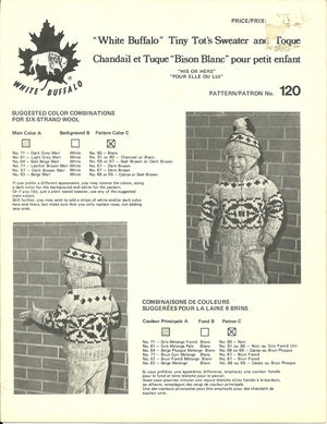 Vintage White Buffalo Cowichan-Style Sweater Patterns