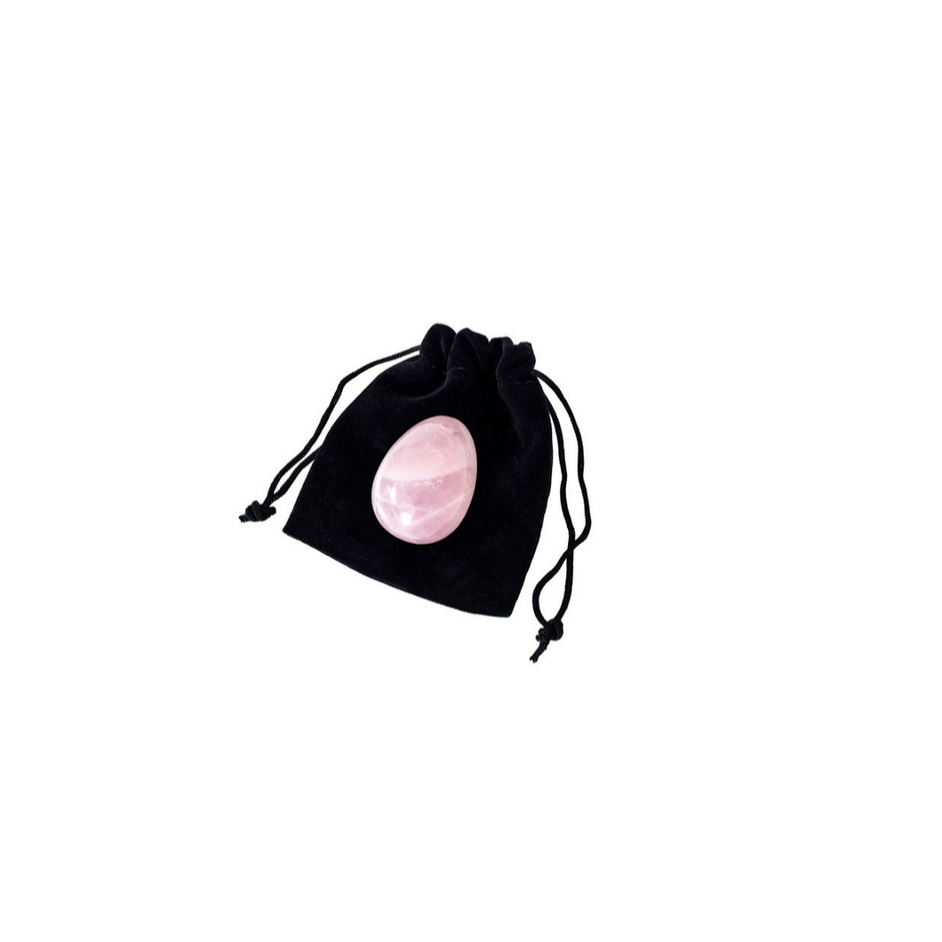 Rose Quartz Yoni Egg - Medium