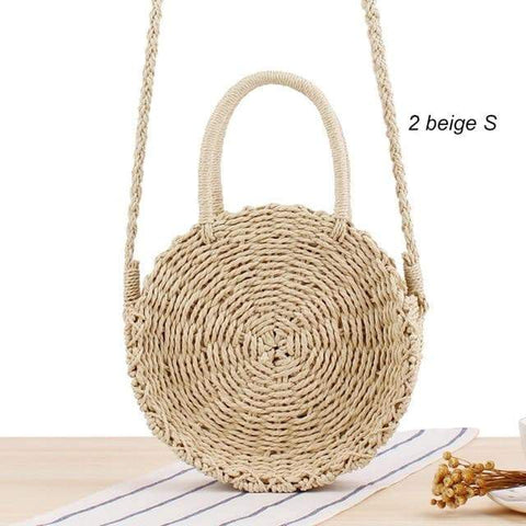 Image of SportsChest 2beige S / China Women Round Straw Bag