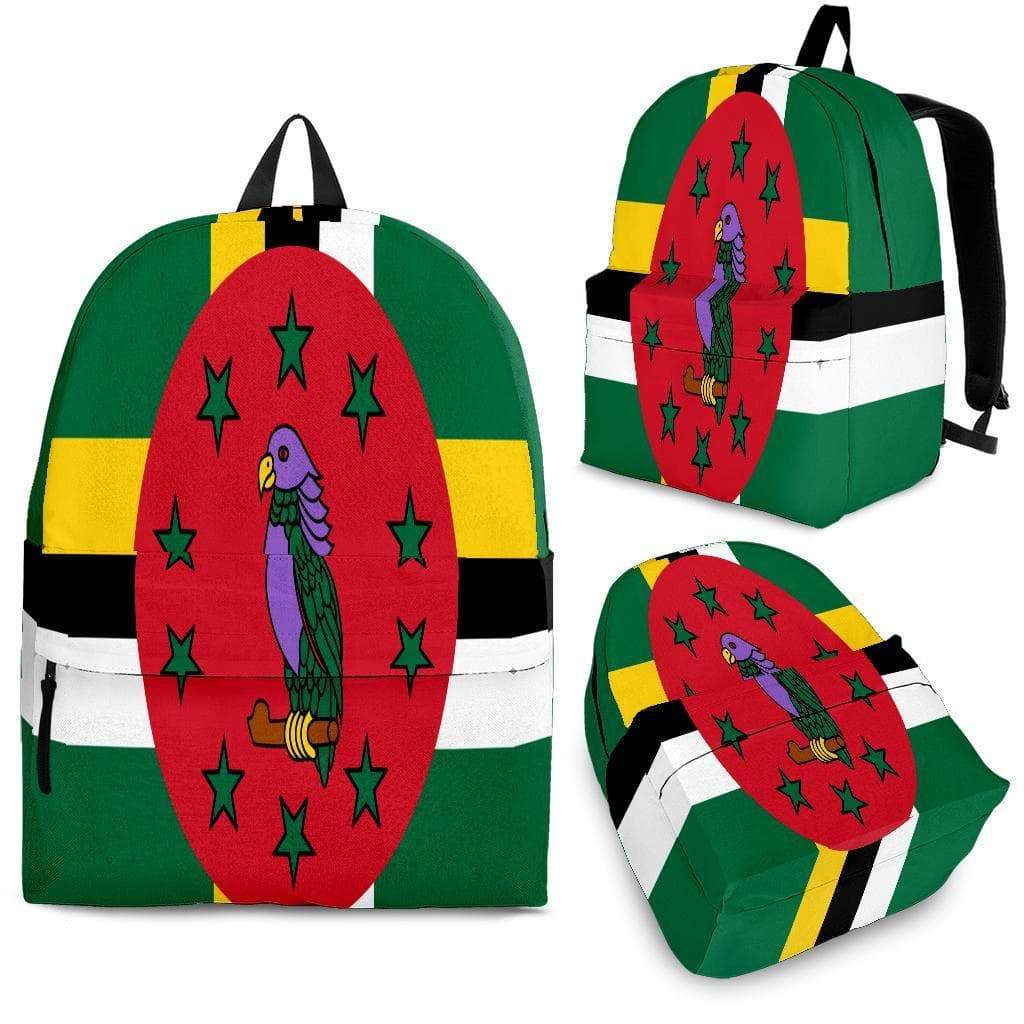 SportsChest Backpack - Black - Dominica Backpack / Adult (Ages 13+) Dominica Flag Backpack