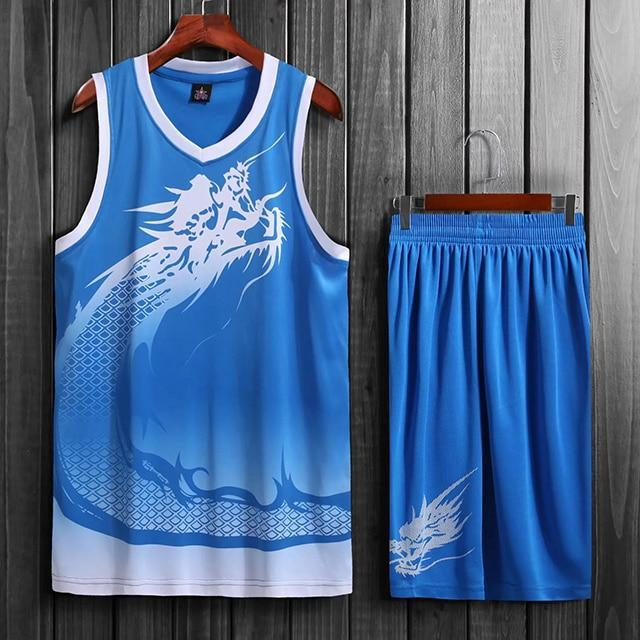 SportsChest Basketball Jersey set blue / L Dragon Men & women Basketball Jersey Sets