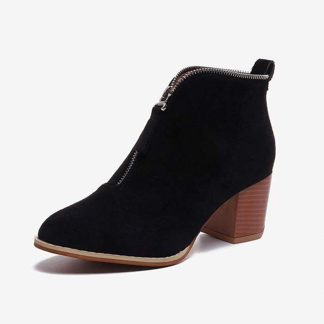 SportsChest black / 5 Womens Sexy Suede Ankle Boots