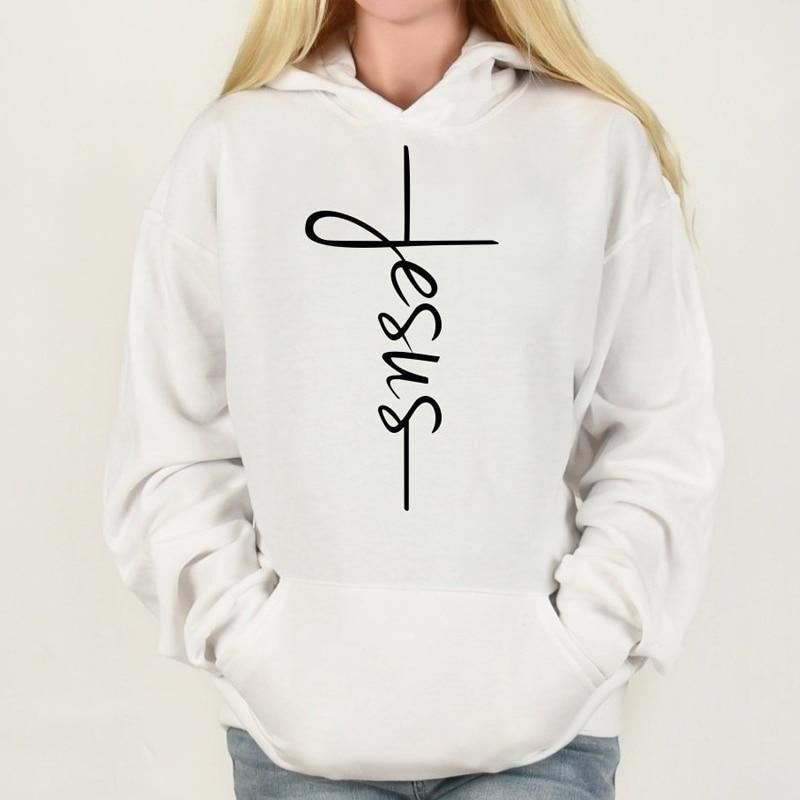 SportsChest Black / L Women's Jesus Cross Hoodies