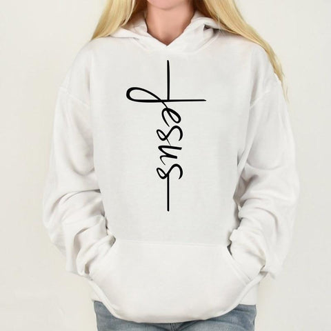 Image of SportsChest Black / L Women's Jesus Cross Hoodies