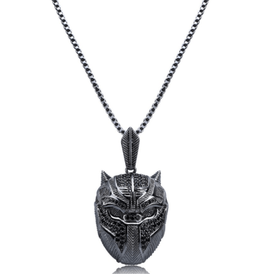 SportsChest Black Panther Pendant Necklace