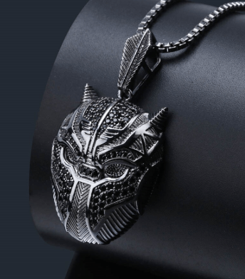 Image of SportsChest Black Panther Pendant Necklace