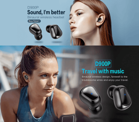 SportsChest Bluetooth Earphones 5.0 Bluetooth Headphones With Microphone & Charging Box