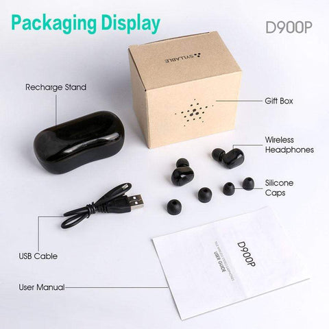 Image of SportsChest Bluetooth Earphones 5.0 Bluetooth Wireless Earphones With Microphone & Charging Box