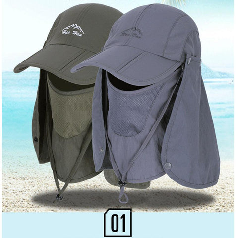 Image of SportsChest Caps Army Green / 55-60 CM Neck & Face Sun Protection Caps
