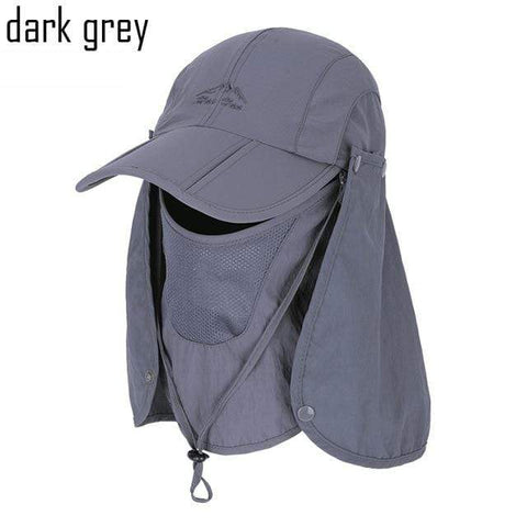 Image of SportsChest Caps Dark Grey / 55-60 CM Neck & Face Sun Protection Caps