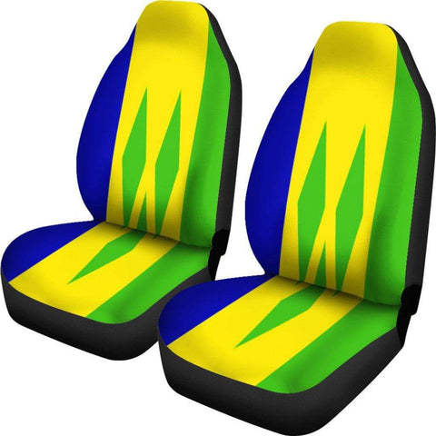 Image of SportsChest Car Seat Covers - Saint Vincent and the Grenadines Car Seat Cover / Universal Fit Saint Vincent and the Grenadines Car Seat Cover