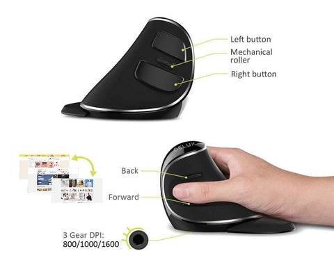 Image of SportsChest Ergonomic Vertical Wireless Mouse