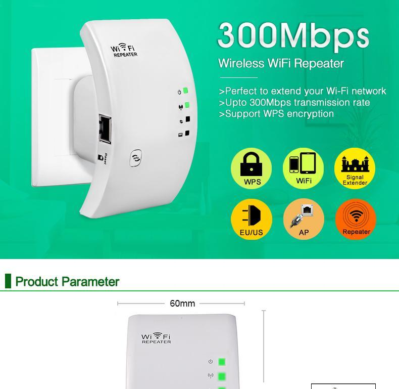 SportsChest China / EU Plug / With Simple Box WiFi Booster/Range Extender