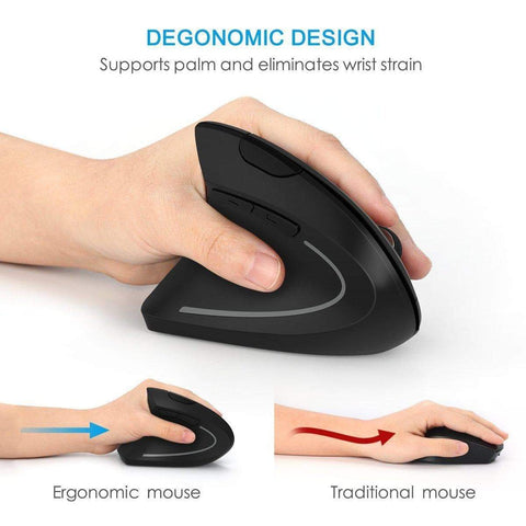 Image of SportsChest Left Hand Vertical Ergonomic Wireless Mouse