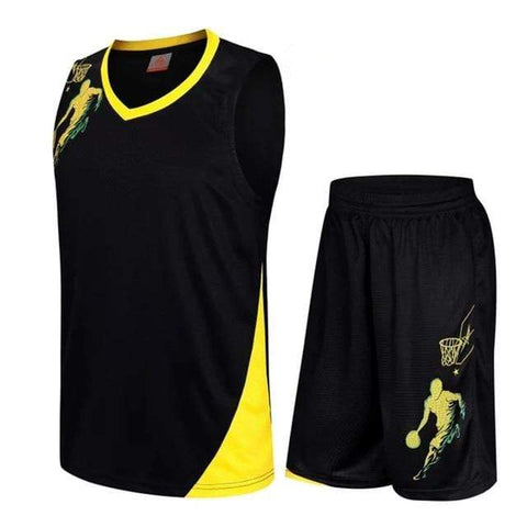 Image of SportsChest Clothing 8081 black / S Kids Basketball Jersey Sets