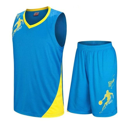 Image of SportsChest Clothing 8081 blue / S Kids Basketball Jersey Sets