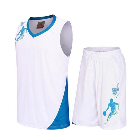 Image of SportsChest Clothing 8081 white / S Kids Basketball Jersey Sets