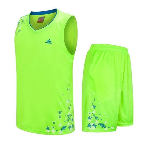 Image of SportsChest Clothing 8090 green / S Kids Basketball Jersey Sets