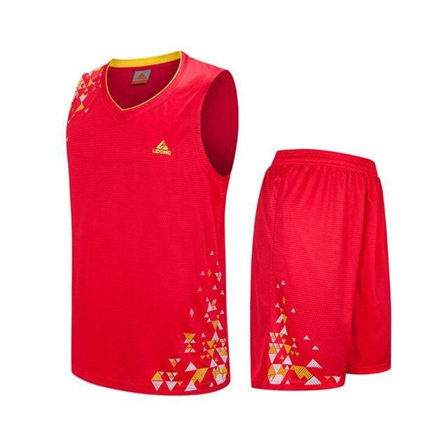 SportsChest Clothing 8090 red / S Kids Basketball Jersey Sets